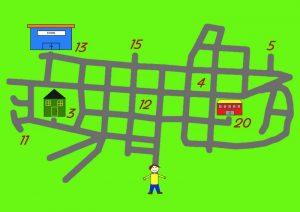 plan ville numerote anglais