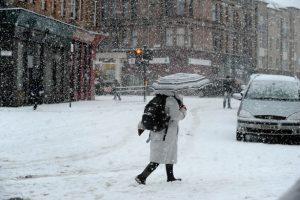 snowy glasgow